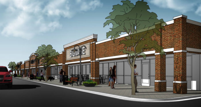 A concept for a commercial architectural designer in Roswell, GA